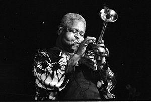 Français : Le trompettiste américain de jazz D...