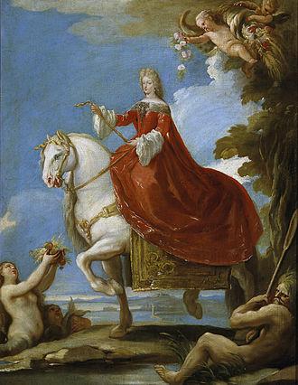 Maria Anna of Neuburg - Maria Anna of Neuburg by Luca Giordano, Prado Museum, Madrid.