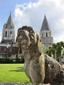 Dog in front of citadel of loches.jpg