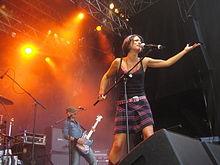 Dolcenera in concerto a Friburgo nel 2007.