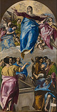Domenikos Theotokópoulos, called El Greco - The Assumption of the Virgin - Google Art Project.jpg