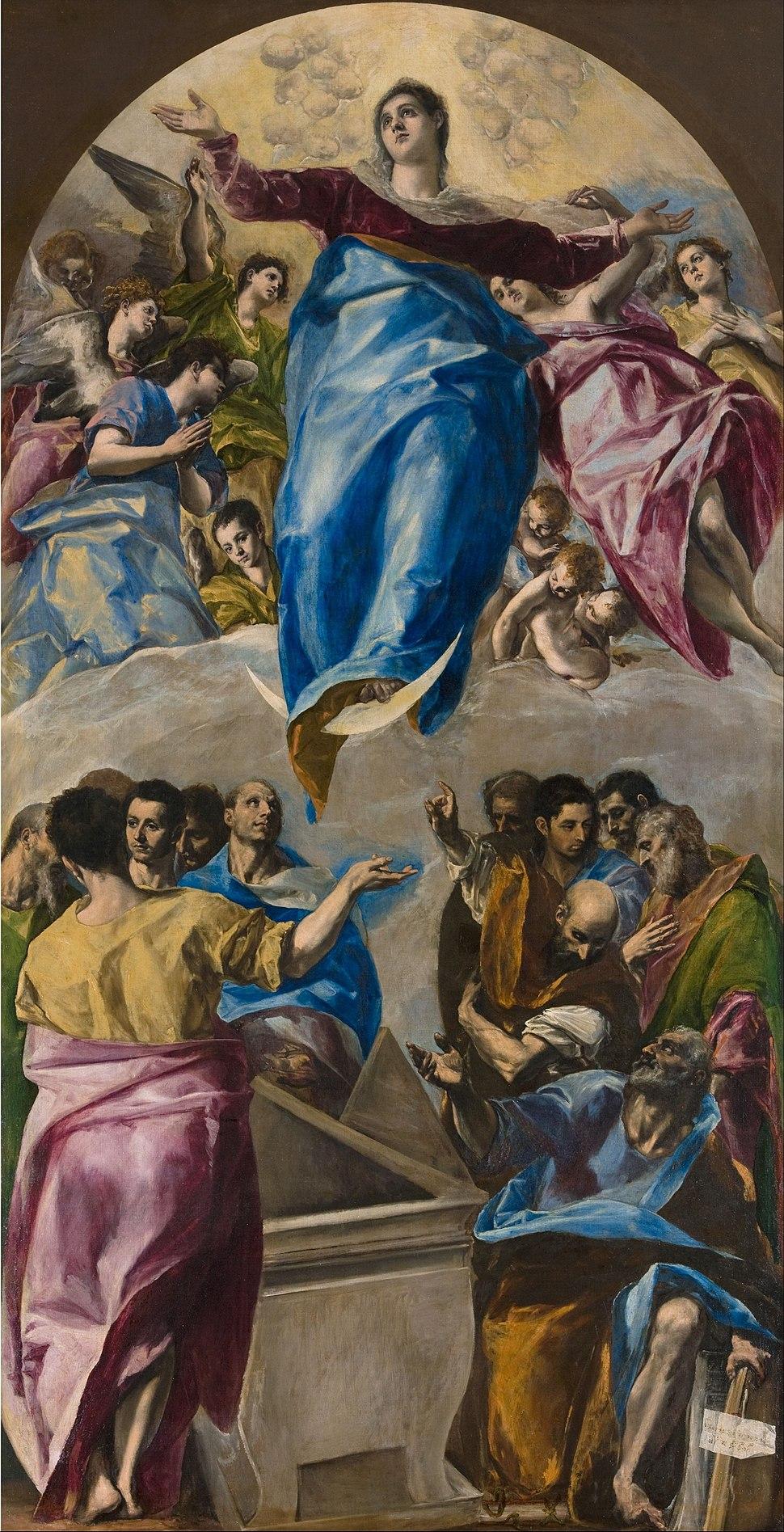 Domenikos Theotokópoulos, called El Greco - The Assumption of the Virgin - Google Art Project