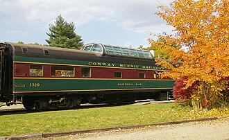 Conway Scenic Railroad - The Dorthea Mae dome car