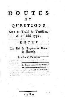 Vertrag Von Versailles 1756 Wikipedia