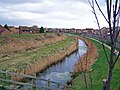 Drain and flood bund, plus new housing - geograph.org.uk - 710812.jpg