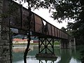 Dravograd-former railway bridge over the Drava-western side.jpg