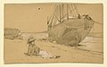 Drawing, At the shore, 1884 (CH 18369769).jpg