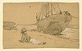Drawing, At the shore, 1884 (CH 18369769).jpg