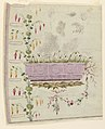 """Drawing, Design for Embroidered Waistcoat, pattern 1819 of the Fabrique de St. Ruf, """"Gilet"""" design, ca. 1785 (CH 18214219-2).jpg"""
