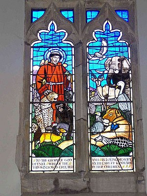 Drayton St. Leonard - Wild Animal Window in parish church