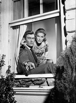 Chuck Connors - With Pippa Scott in 1960