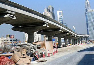 Dubai Metro - Dubai Metro Red Line Viaduct on 22 November 2007