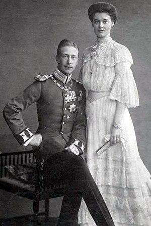 Duchess Cecilie of Mecklenburg-Schwerin - Duchess Cecilie of Mecklenburg-Schwerin and the German Crown Prince. Engagement photograph