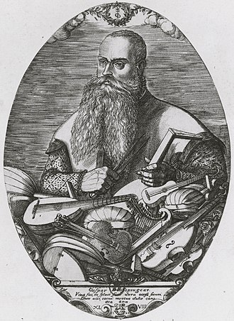Gasparo Duiffopruggar - Gasparo Duiffopruggar, engraving by Pierre Woeiriot (1532–1599)