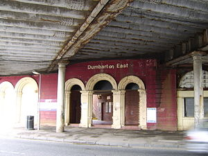 Dumbarton East railway station - Dumbarton East railway station's slightly neglected state