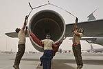 Dust, wind or shine, Aircraft Maintenance works the 'line' 150707-F-BN304-089.jpg