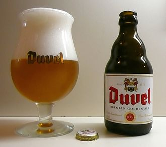 Beer in Belgium - Duvel, a typical blond Belgian ale