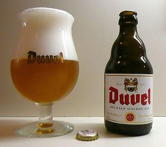 Beer in Belgium - Duvel, a typical blond Belgian ale