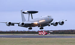 E-3D Sentry Aircraft Lands at RAF Waddington MOD 45153679.jpg