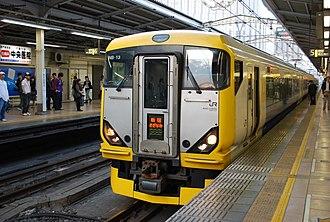 Sazanami (train) - Image: E257 500 NB 13 Shinjuku Sazanami Akihabara 20100502