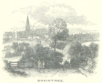 Braintree, Essex - General view of Braintree in 1851.