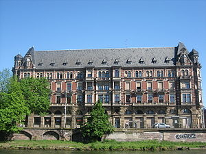 University of Strasbourg - The Gallia building, formerly Germania, seat of the Regional Student's Service Centre