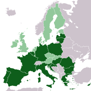 United States of Europe - Image: EU members where more people in favor of the European Federation