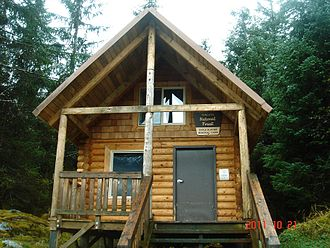 Tongass National Forest - Eagle Glacier Memorial Cabin, located near Juneau in the Tongass National Forest