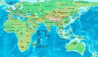 Mauri people - Eastern Hemisphere in 476 CE, showing the Mauri kingdoms after the fall of Rome
