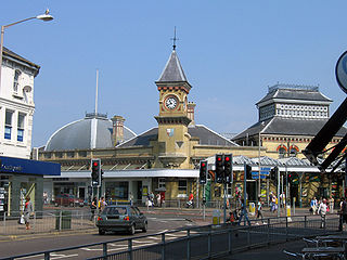 railway station in Eastbourne, England