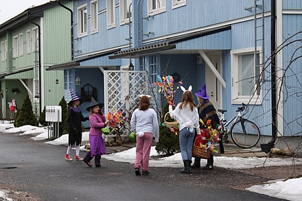 Easter witches in Finland. Easter witches in Nissila IM5293 C.jpg