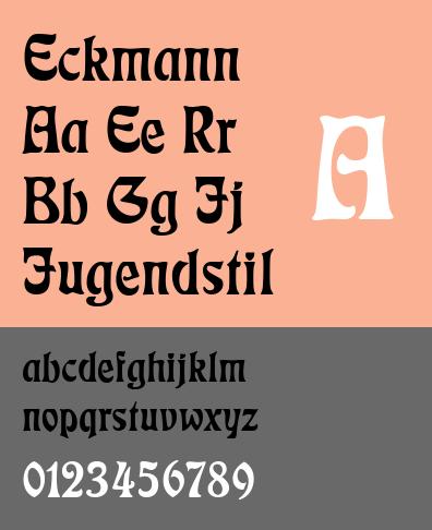 Eckmann Typeface