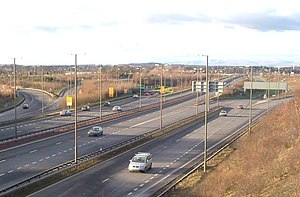 Edinburgh City Bypass - Hermiston Junction where the A720 meets the M8 and the A71.