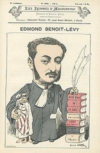 Edmont Benoit-Lévy (by Emile Cohl).jpg