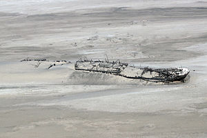 Skeleton Coast - Shipwreck of Eduard Bohlen.