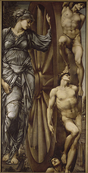 """Rota Fortunae - """"The Wheel of Fortune"""" by Edward Burne-Jones, 1875-83"""