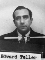 Teller's ID badge photo from Los Alamos
