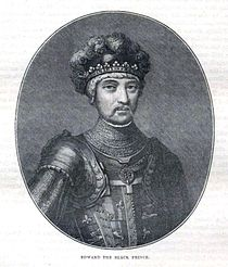 Edward the Black Prince - Illustration from Cassell's History of England - Century Edition - published circa 1902.jpg