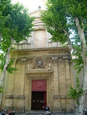 L'église vue du cours Sextius