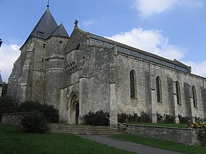Aouste - The fortified church of Saint-Rémi at Aouste
