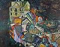 Egon Schiele - Stadtende bzw. Porträtskizzen Heinrich Benesch.jpg