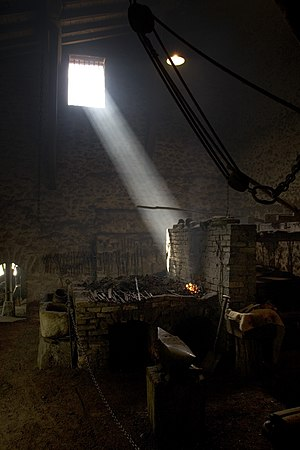 Traditional ironworks in El Pobal (Biscay, Basque Country, Spain)