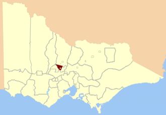 Electoral district of Maldon - Location in Victoria