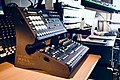 Elektron Analog RYTM & Analog Four mounted on Zerack MDF stand - These machines kill fascists - side (2015-02-26 13.21.27 by mikael altemark).jpg