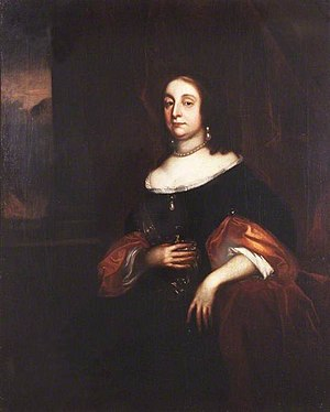Oliver Cromwell - Portrait of Cromwell's wife Elizabeth Bourchier, painted by Robert Walker