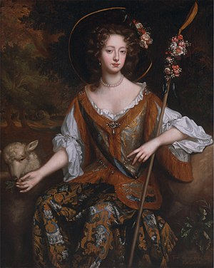 John FitzGerald, 18th Earl of Kildare - Elizabeth Jones, Countess of Kildare, as a shepherdess  (Willem Wissing, ca. 1684)
