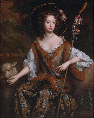 John FitzGerald, 18th Earl of Kildare - Elizabeth Jones, Countess of Kildare, as a shepherdess  (Willem Wissing, ca. 1684)