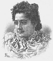Black and white drawing depicting a woman.