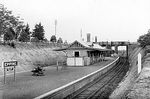 Epping railway station, Sydney - Epping circa 1920, looking south