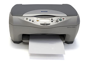 An Epson CX3200 multi-function printer/scanner.